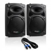 "Paar PA-högtalare Ibiza SLK 2x 30cm (12"") Master Slave 1300W USB SD MP3"