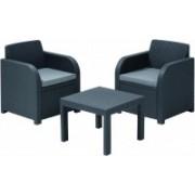 Balkónový set ALLEGRO - graphite + grey Allibert 213783
