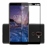 Folie protectie sticla securizata full size pentru Nokia 7 Plus, negru