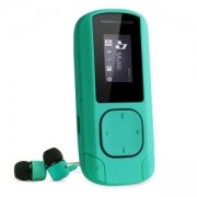 MP3 плейър Energy Sistem MP3 Clip Mint, 0.8 LCD, MP3/WMA, 200 mAh батерия, microUSB, 42647