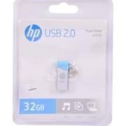 HP v215b 32 GB Pen Drive(Blue, Grey)