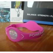 Balanční náramek s hologramem Power Balance - růžový-bílý