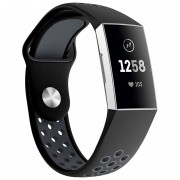 Banda de reloj de correa de muñeca de silicona para Fitbit Charge 3