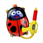 FFtoy Water Gun Backpack beetle insect ladybird Super Soaker For Kids Toys - Summer Fun Outdoor Water Toy For Children Beach Pool Backyard Water Blaster Cartoon animal