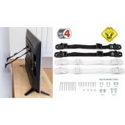 TV Straps - Kantelbeveiliging Voor Televisie & Meubels - Anti Kantel Banden - Omvalbeveiliging - Set 4 Stuks
