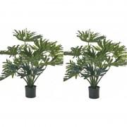 Bellatio flowers & plants 2x Groene Philondendron 80 cm