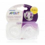 Avent Fopspeen 0-6M transparant BPA 2st