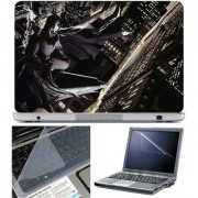 Finearts Laptop Skin 15.6 Inch With Key Guard & Screen Protector - Batman On Top