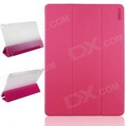 ENKAY ENK-3504 Funda protectora ultrafina de la PU con el soporte 3-Fold / sueno auto para IPAD AIR 2 - Deep Pink