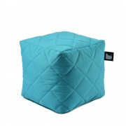 Extreme Lounging B-Box quilted poef-aqua blauw
