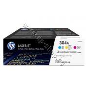 Тонер HP 304A за CP2025/CM2320 3-pack, 3 цвята (3x2.8K), p/n CF372AM - Оригинален HP консуматив - к-т 3 тонер касети