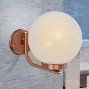 vidaXL Wandlamp buiten bol koperkleurig roestvrij staal