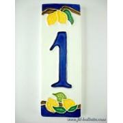 Numero civico ceramica con limoni nl1