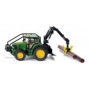 SIKU Farmer - Tractor forestier John Deere cu găleată de încărcare 1:32