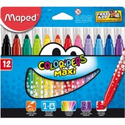 CARIOCI 12 CULORI COLOR PEPS MAXI MAPED (846020)