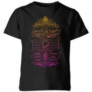 Harry Potter School List kinder t-shirt - Zwart - 9-10 Years - Zwart