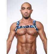 Mister B Urban Camo X Back Club Harness Costume Blue 820541