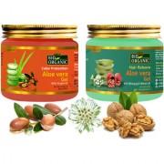 Indus Valley Bio Organic Hair Reborn Aloe Vera Gel With Color Protection Aloe Vera Gel Combo Pack (Set Of 2)