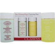 Clarins Cleansers and Toners Gift Set - Pieles Secas/Normales 100ml Leche Limpiadora + 100ml Loción Tonificante Sin Alcohol