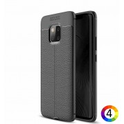 Huawei Mate 20 Pro Удароустойчив Litchi Skin Калъф и Протектор