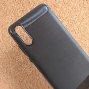 Силиконов калъф за Huawei P20 гръб черен карбон Lux