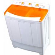 Masina de spalat rufe semiautomata Vortex VO1501, Spalare 7.8 kg, Stoarcere 5 kg, Alb/Portocaliu