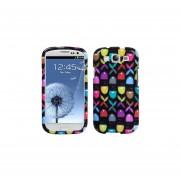 Funda Protector Samsung Galaxy SIII Negro Flores Colores
