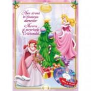 Disney Audiobook Printese Mica sirena in cautarea darurilor. Aurora si surprizele Craciunului carte + CD