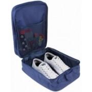Prabhu Sales 2 Layer Waterproof Travelling Shoe Storage Bag Footwear Organizer Pouch Travel Toiletry Kit(Blue)