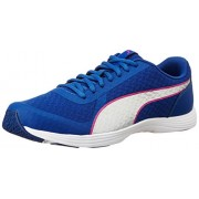 Puma Women's Modern S Flume True Blue and Puma Silver Sneakers - 7 UK/India (40.5 EU)