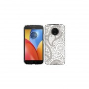 Funda Para Celular Motorola E4 Plus Paisley Blanco & Café
