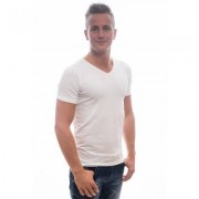 Petrol Industries T-Shirt Basic V-Neck Bodyfit Two Pack White