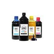 Kit 4 Tintas L200 para Epson Black 1 Litro Color 500ml Pigmentada Aton