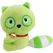 ER Cute Mini Marrón Verde Raccoon Muñeco Suave Peluche Con Big Cola Para Niños -Green