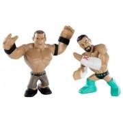 Mattel WWE Rumblers mini figure CM Punk & John Cena