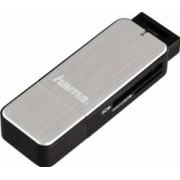 Cititor de carduri Hama USB 3.0 SD microSD Silver