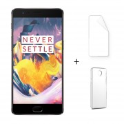 "Oneplus 3T A3010 4G LTE Android 6.0 6GB RAM 128GB ROM 5.5 ""FHD 16.0MP Gris + Protector De Pantalla + Estuche"