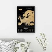 Скреч Карта на Европа – Black Deluxe Edition