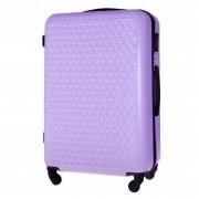 Średnia walizka podróżna STL870 CZARNA 48L ABS - FIOLETOWY
