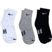 Nike Multicolour Cotton Ankle Length Socks - 3 Pairs