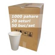 Pahar carton 12oz Alb JND bax 1000buc
