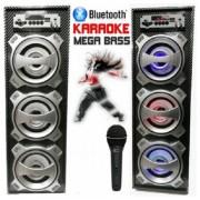 Караоке тонколона Megabass KTS-681 с Микрофон, Цветомузика, FM Радио, MP3, SD, USB, Bluetooth
