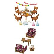 Sylvanian Families Home Party Set AND Armchair Set Sold Together (two sets)