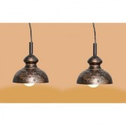 AH Black Color With Golden Shading Iron Pendant Light / Ceiling Lamp Ceiling Light / Hanging Lamp Hanging Light ( Pack of 2 )
