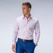 Tailor Store Lättstruken ljusrosa skjorta