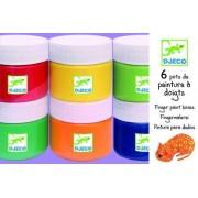 Farby do malowania palcami w kubeczku 6 szt. x 100ml, DJECO DJ08878