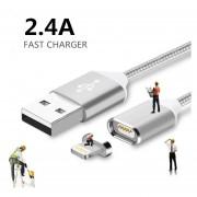 Cable Magnético Lighting a USB Para Iphone 5 6 7 8 X Plata