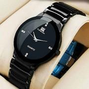 IDIVAS IIK Collection Round Dial Black Metal Strap Analog Watch For Men
