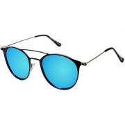 David Blake Blue Round Polarised UV Protected Sunglass