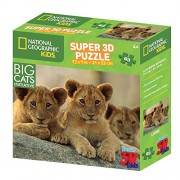 National Geographic Kids 63 piece 3D Puzzle Jigsaw Big Cats Lions 10525